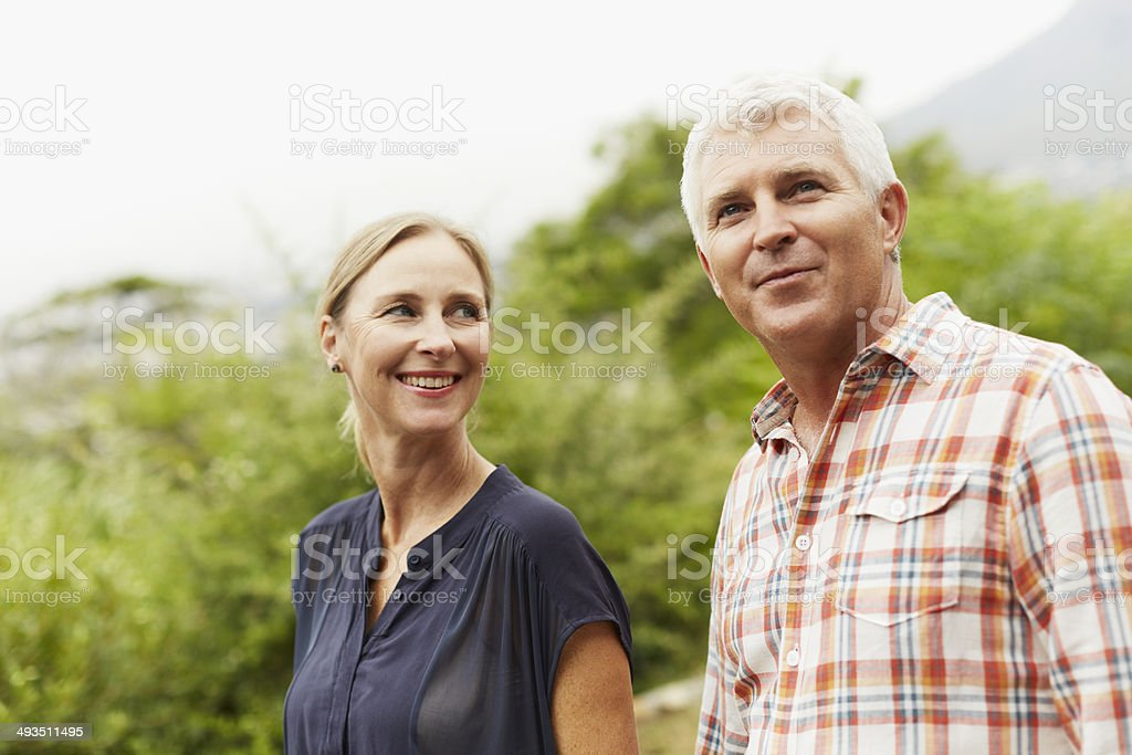 Mature couple in park – Foto