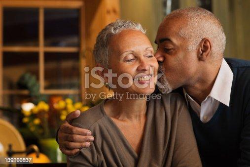 istock Mature couple kissing 139266837