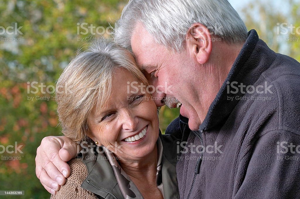 Mature couple laughing royalty-free stock photo