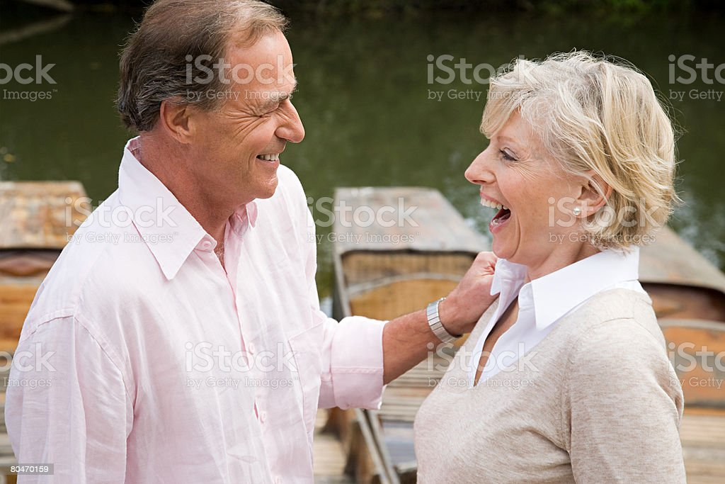 Mature couple laughing 免版稅 stock photo
