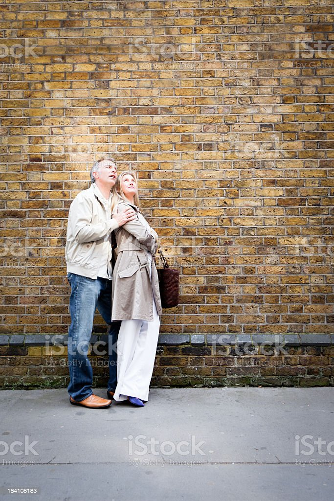 Mature couple on a date royalty-free stock photo