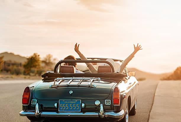 mature couple on roadtrip - riding stock photos and pictures