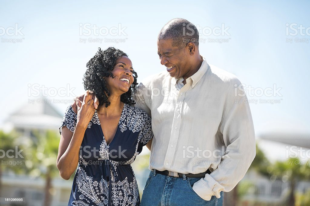 Mature Couple on Vacation stock photo
