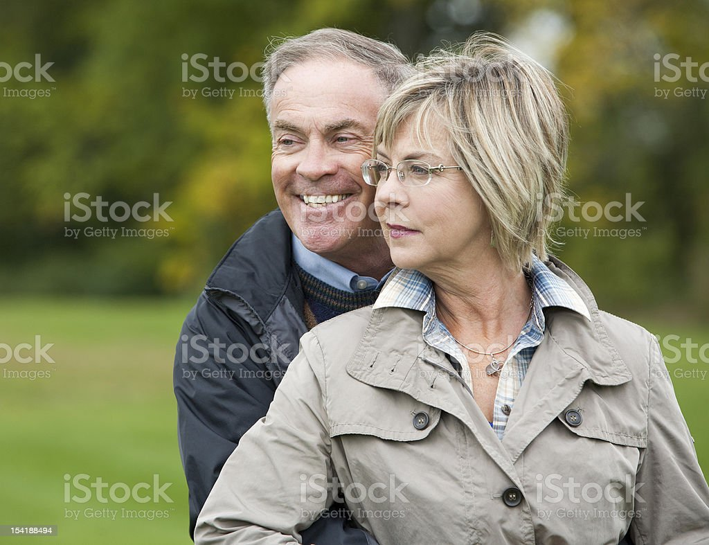 mature couple outdoors royalty-free stock photo