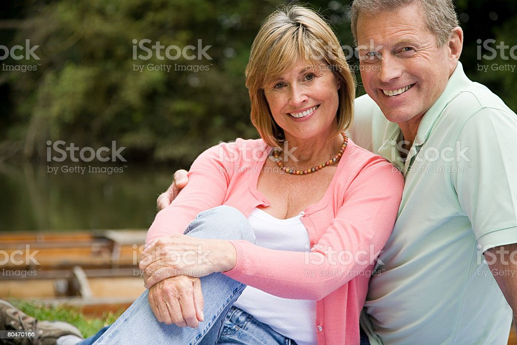 Mature couple relaxing 免版稅 stock photo