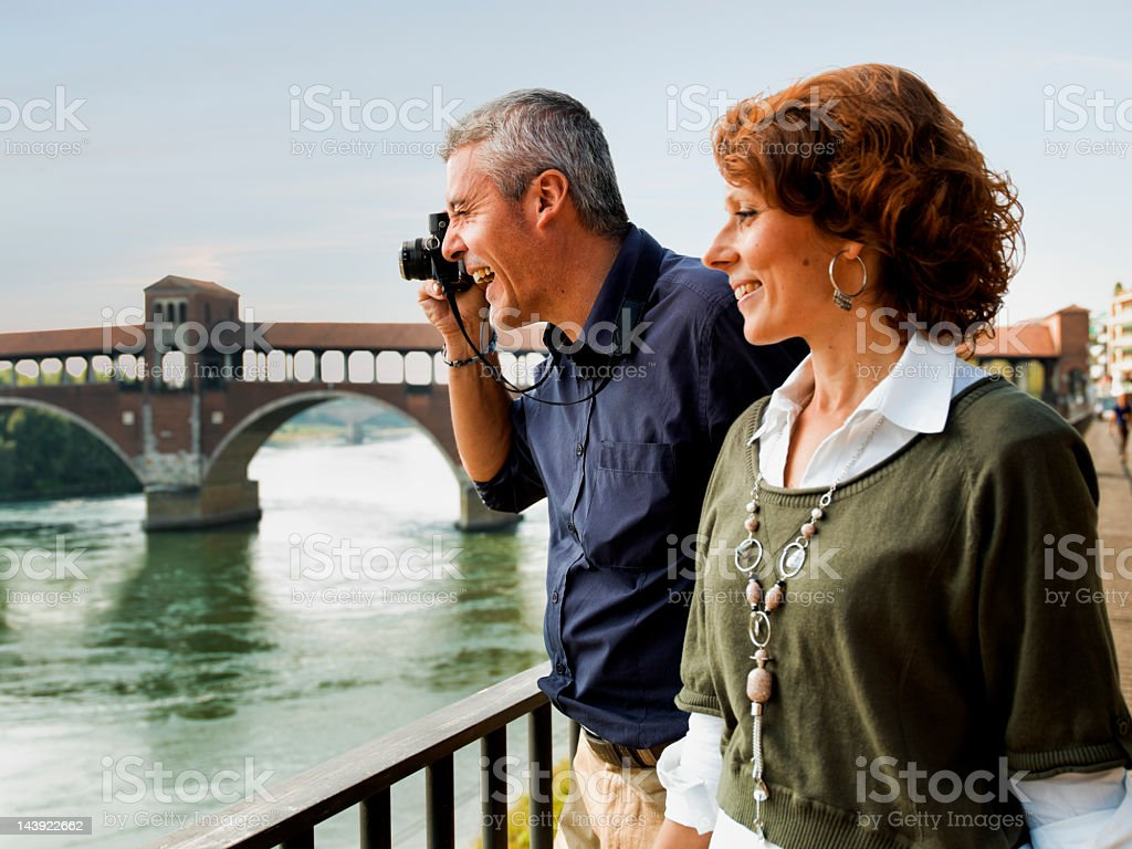 Mature Couple Sightseeing royalty-free stock photo