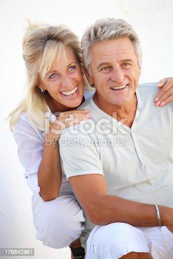 119998253 istock photo Mature couple smiling 176842961