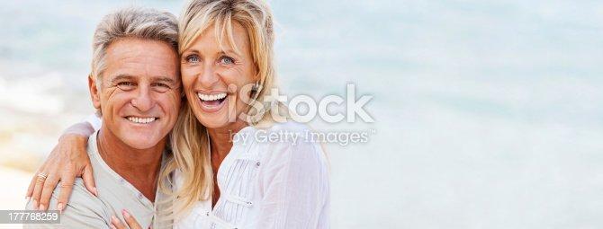 119998253 istock photo Mature couple smiling 177768259