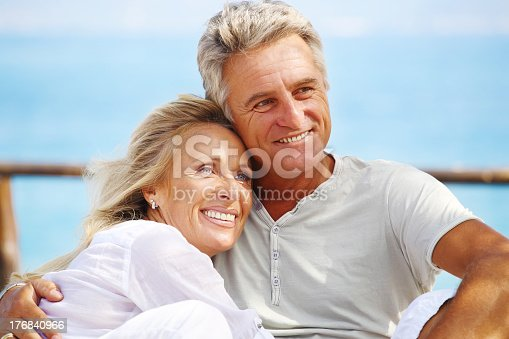 119998253 istock photo A mature couple smiling together 176840966