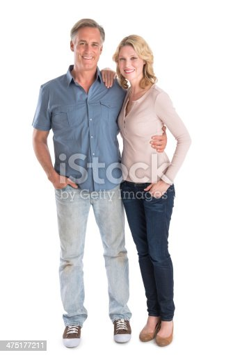 istock Mature Couple Standing With Hands In Pockets 475177211