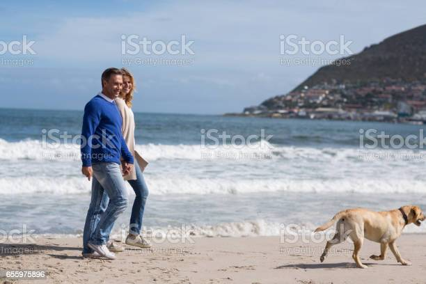 Mature couple walking on the beach with their dog picture id655975896?b=1&k=6&m=655975896&s=612x612&h=q00mwc99ylepfagwvl5y0ymse4ax271 xvrknr xwt8=