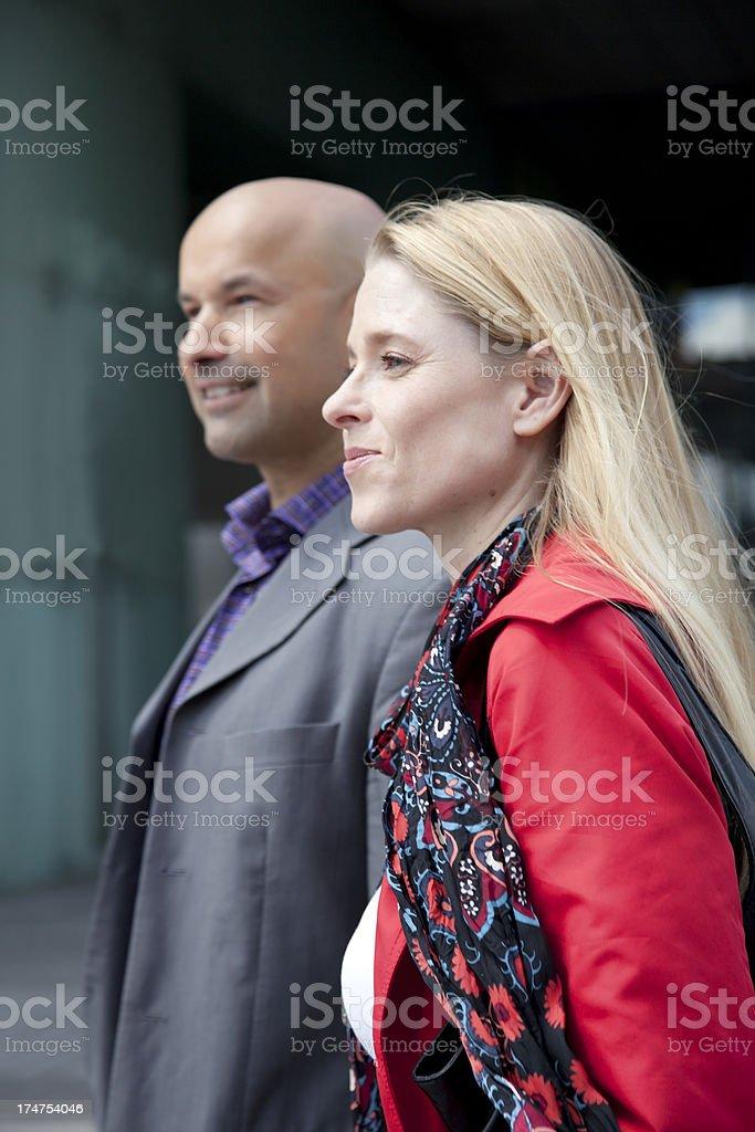 mature couple walking royalty-free stock photo