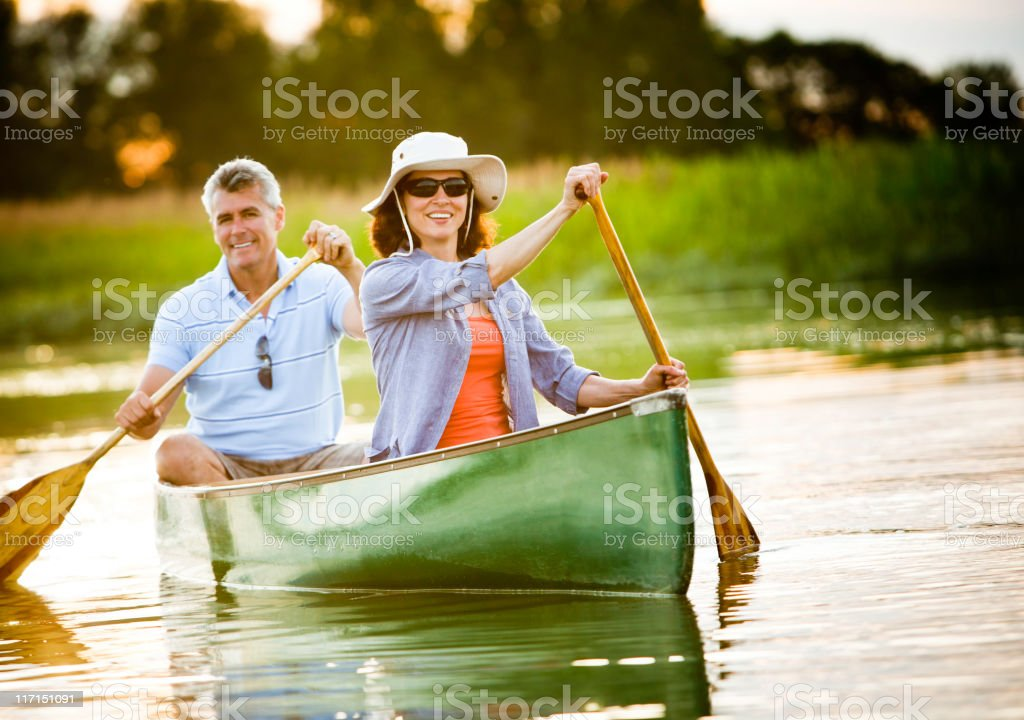 Mature Couple with a Healthy Outdoor Lifestyle royalty-free stock photo