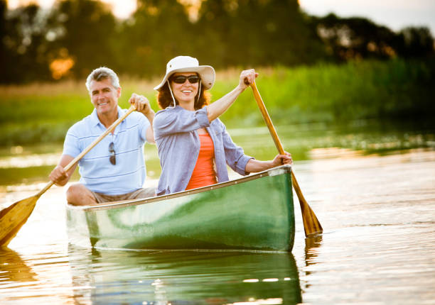 mature couple with a healthy outdoor lifestyle - baby boomers stock pictures, royalty-free photos & images
