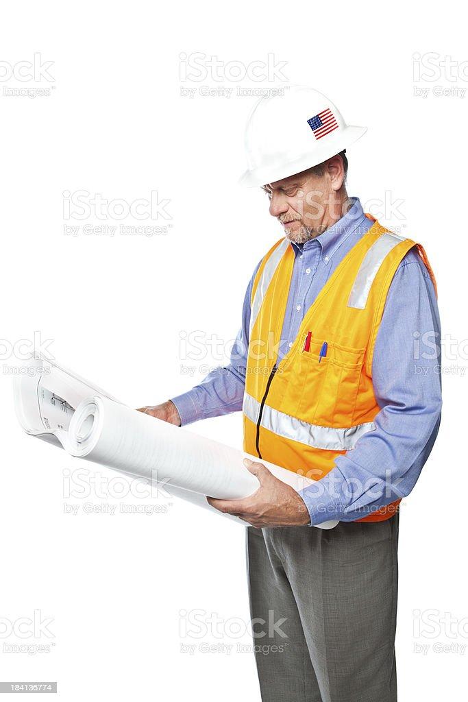 Mature Engineer stock photo