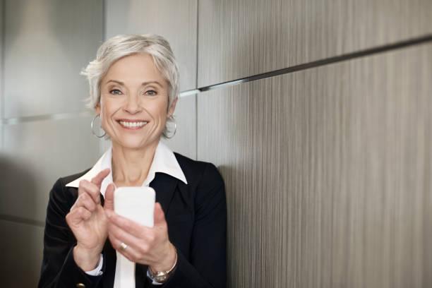 Mature executive business woman stock photo
