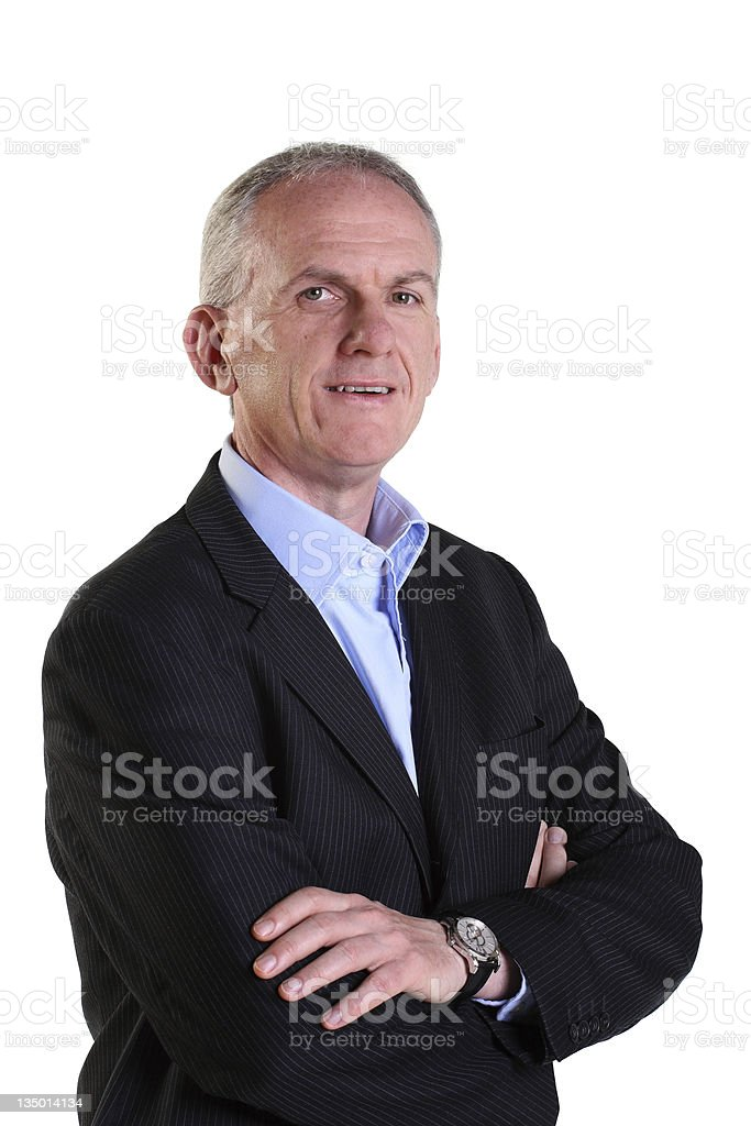 Mature, experienced businessman stock photo