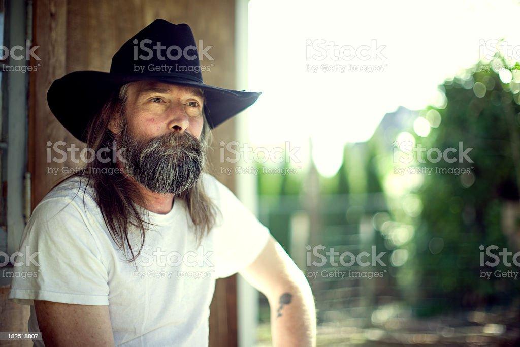 Mature Farmer / Cowboy stock photo