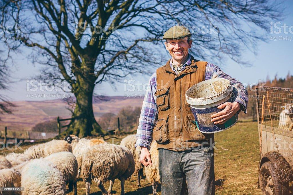 Mature Farmer stock photo