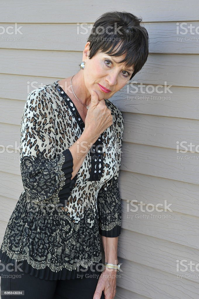 Mature female beauty. stock photo