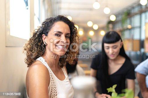 1150572074istockphoto Mature female businesswoman portrait at modern startup company 1134357949