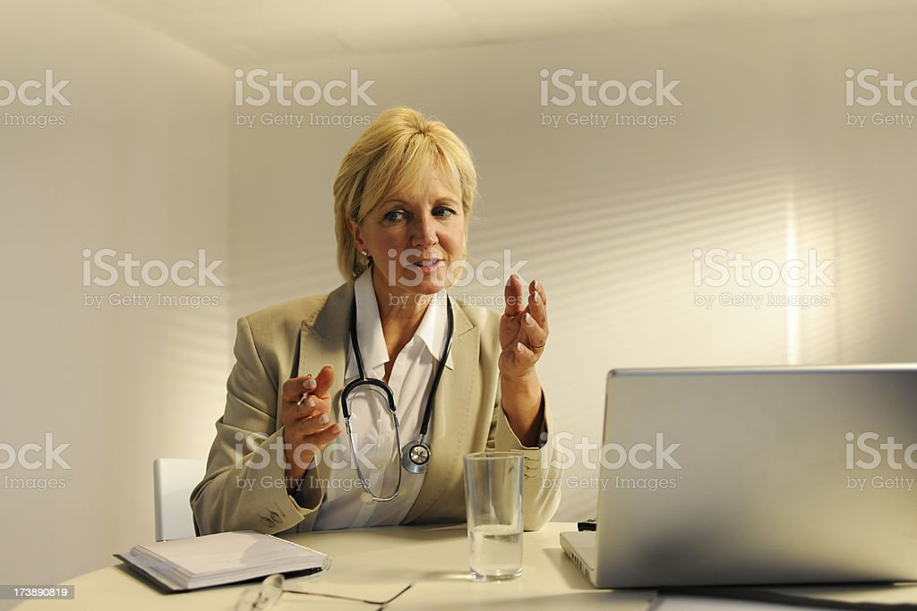 Mature Female Doctor royalty-free stock photo