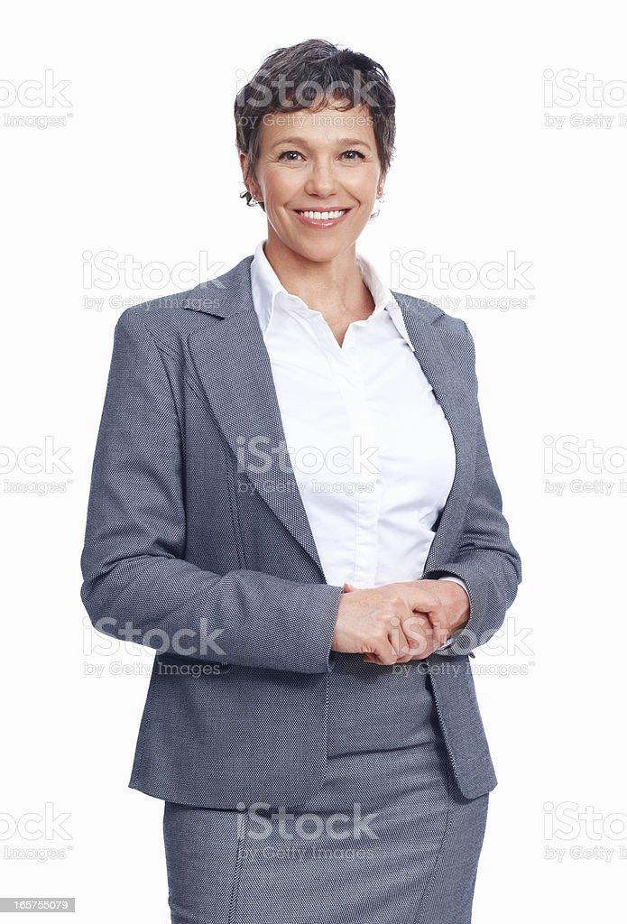 Lächeln Reife weibliche executive – Foto