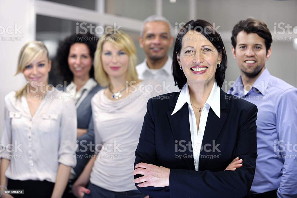 Mature female manager and employee team royalty-free stock photo