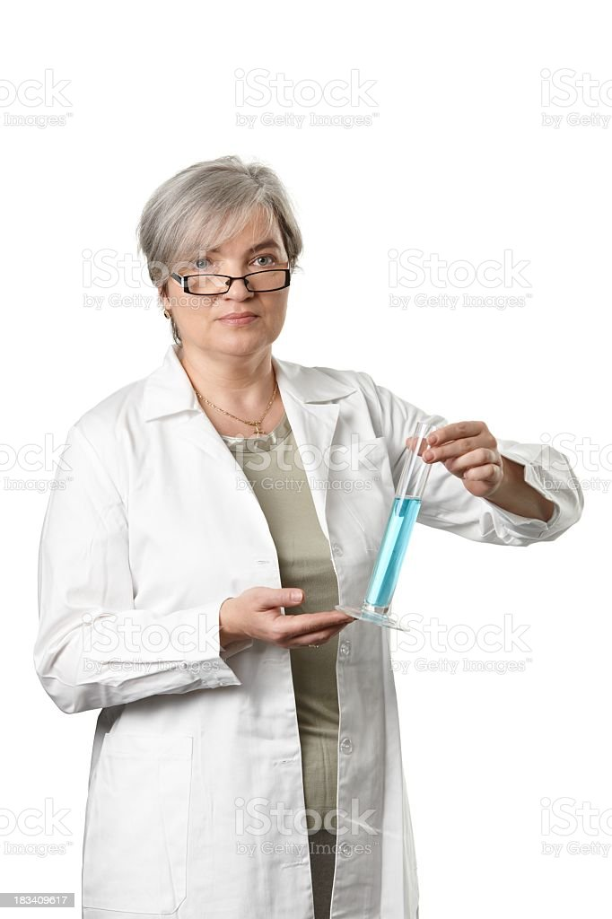 Mature female teacher royalty-free stock photo
