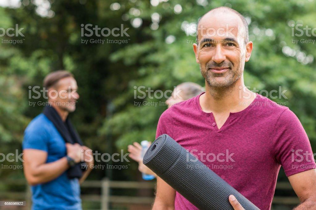 Mature fitness man stock photo
