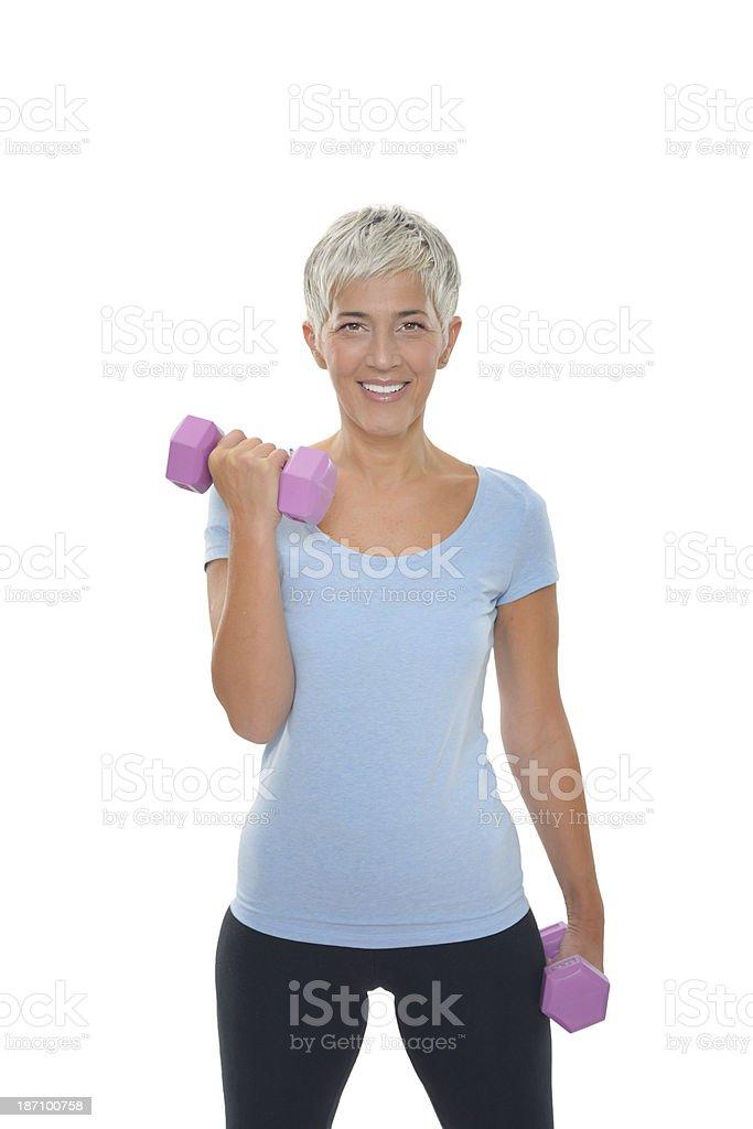 Mature fitness woman royalty-free stock photo