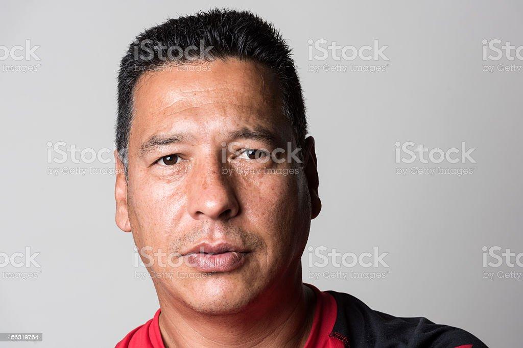 Mature hispanic mature man stock photo