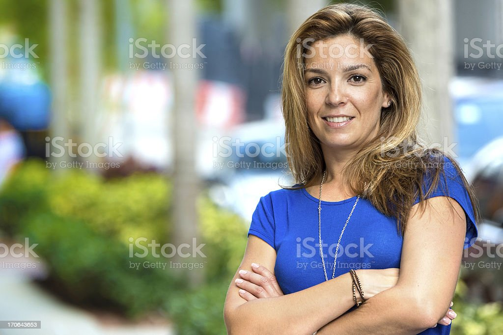 Mature Hispanic Woman royalty-free stock photo