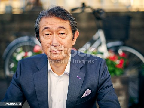 A mature aged Japanese man in Tokyo, Japan.