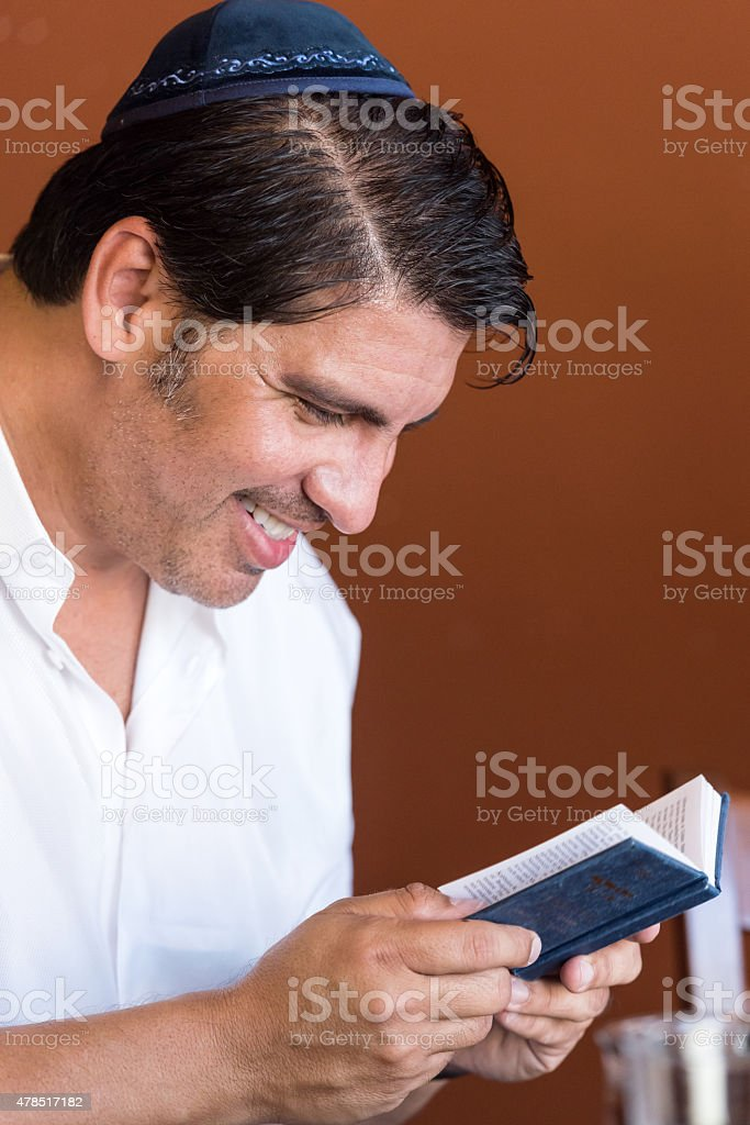 Mature jewish man stock photo