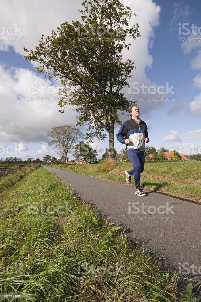 mature jogger royalty-free stock photo