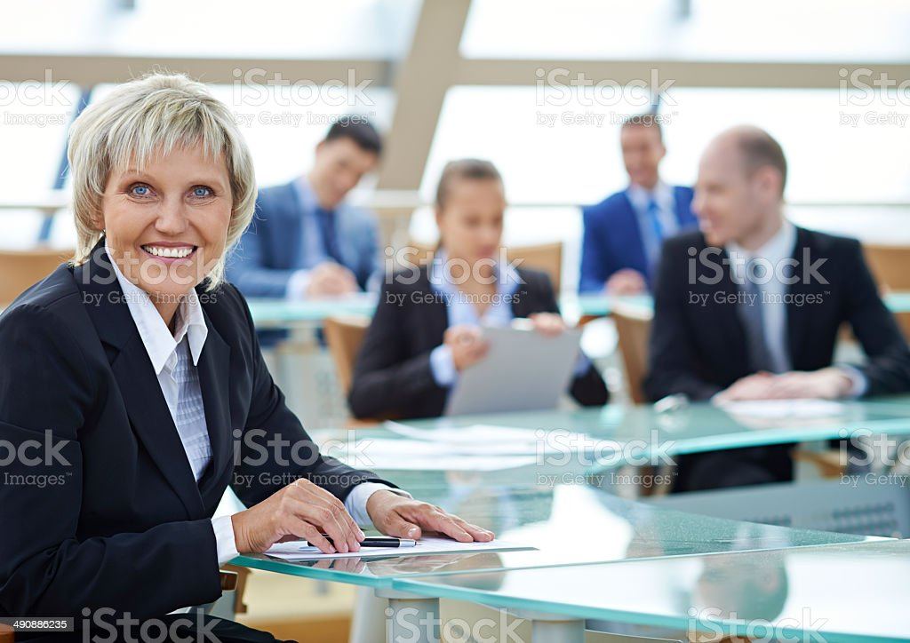 Mature lady in business stock photo