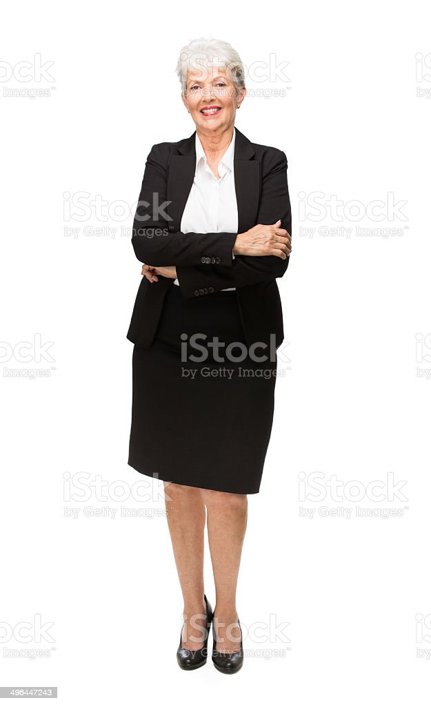 Mature Latin Business Woman With Arms Crossed Stock Photo  More Pictures Of 70-79 -9010