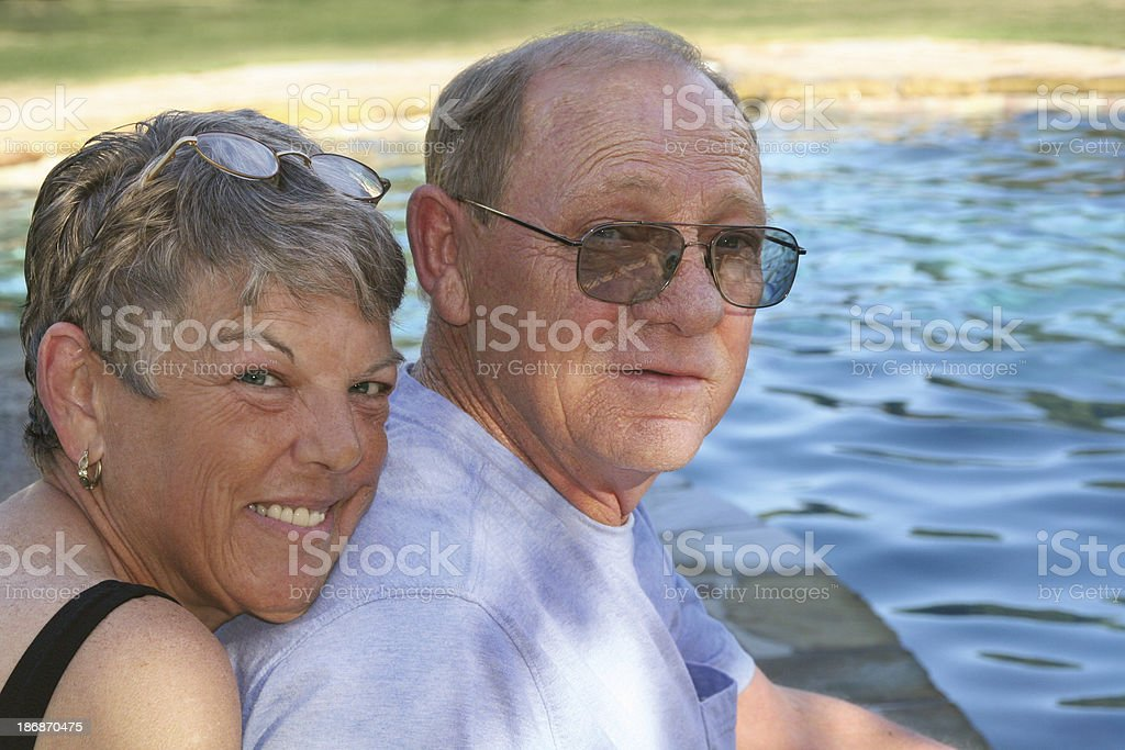Mature, loving couple royalty-free stock photo