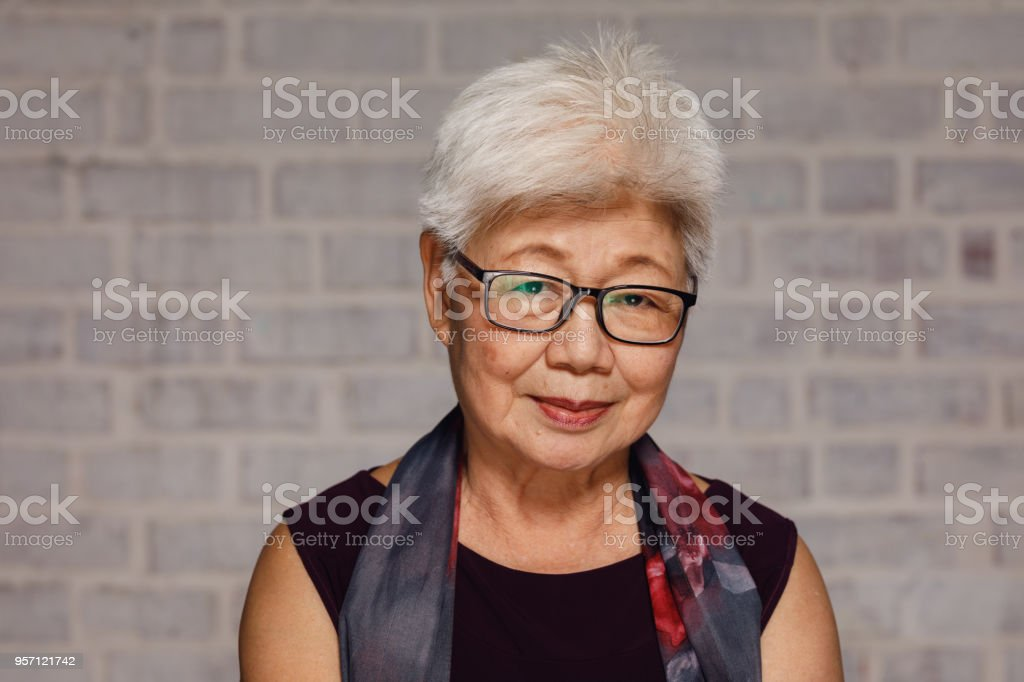 Mature Malaysian Woman stock photo