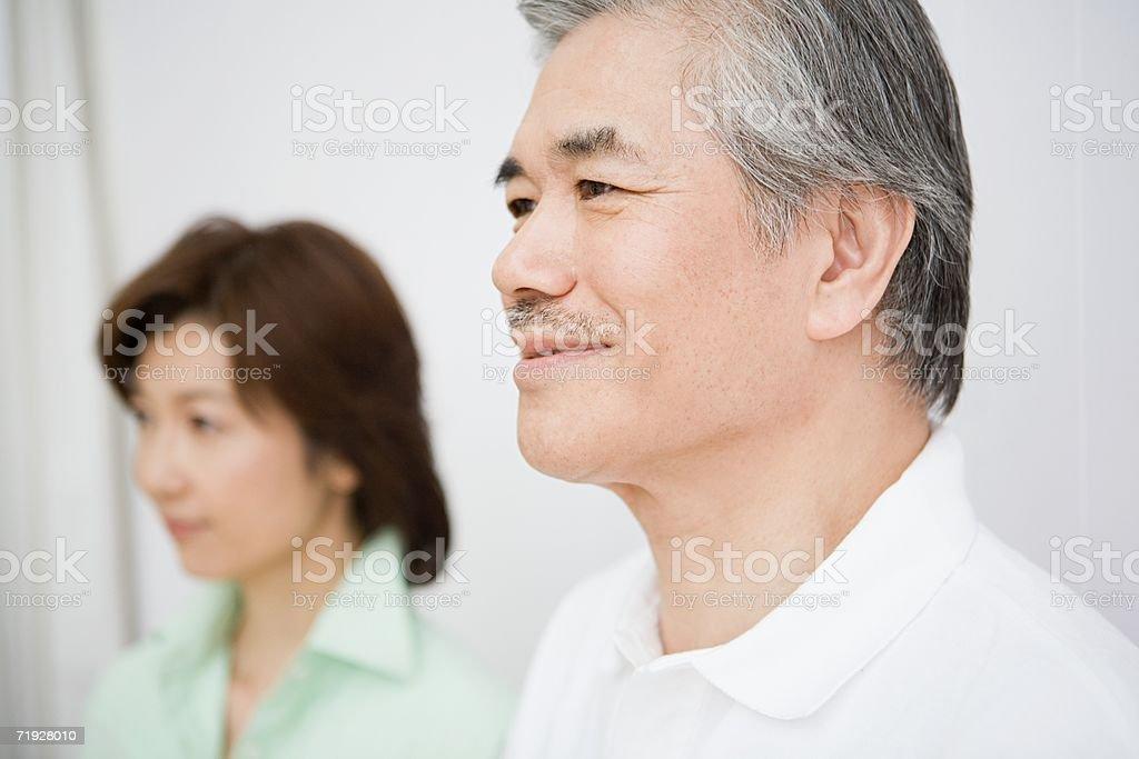 Mature man and woman royalty-free stock photo