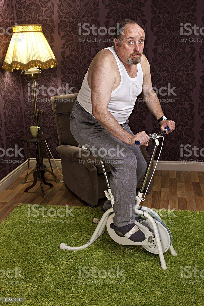 mature man exercising royalty-free stock photo