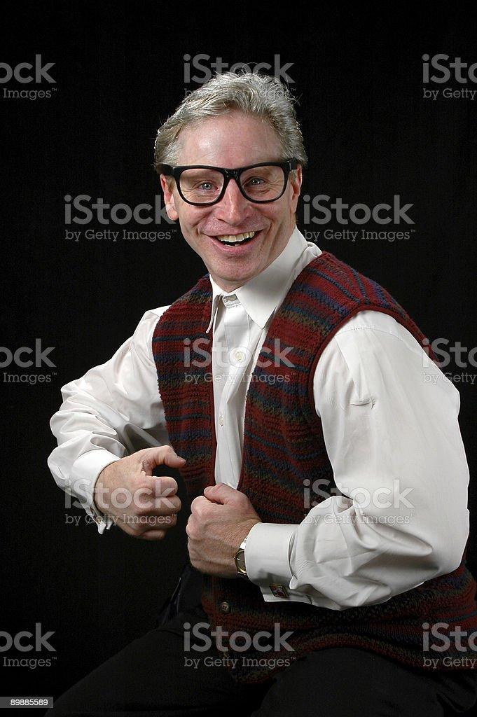 Mature Man Expressing Joy royalty-free stock photo