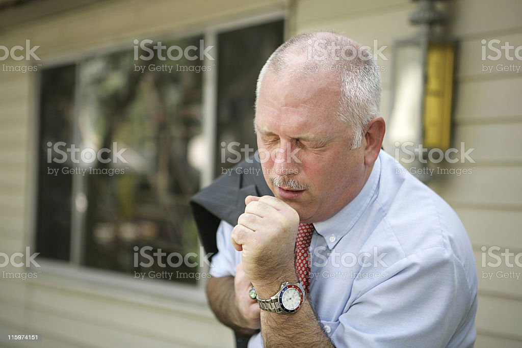 Mature Man - Flu Season royalty-free stock photo