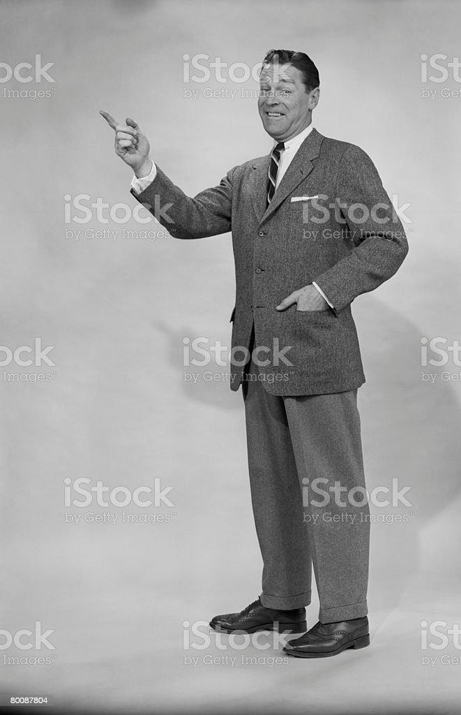 Homem maduro, Retrato de estúdio Gesticular foto de stock royalty-free