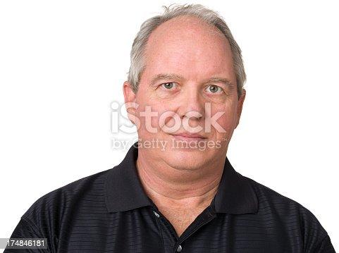 805011368 istock photo Mature Man Head and Shoulders Portrait 174846181
