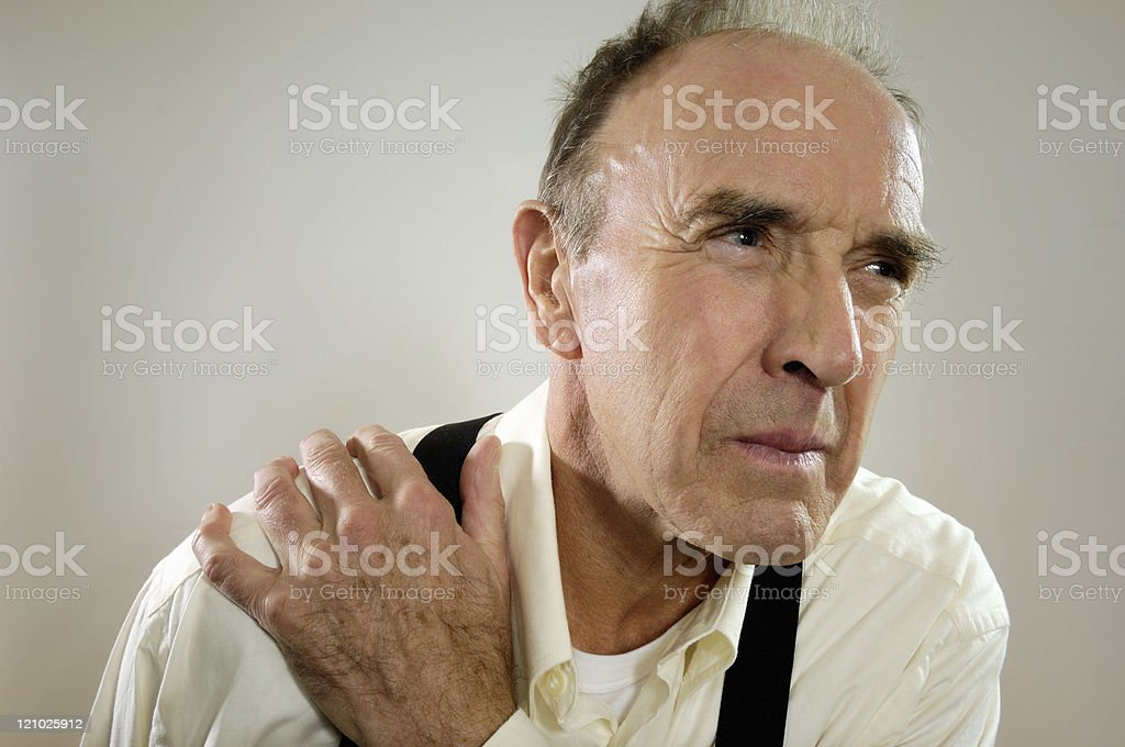 Mature man in pain royalty-free stock photo