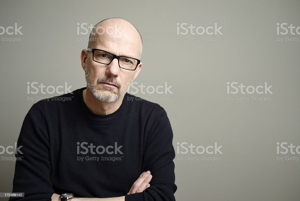Mature Man Looking at Camera stock photo