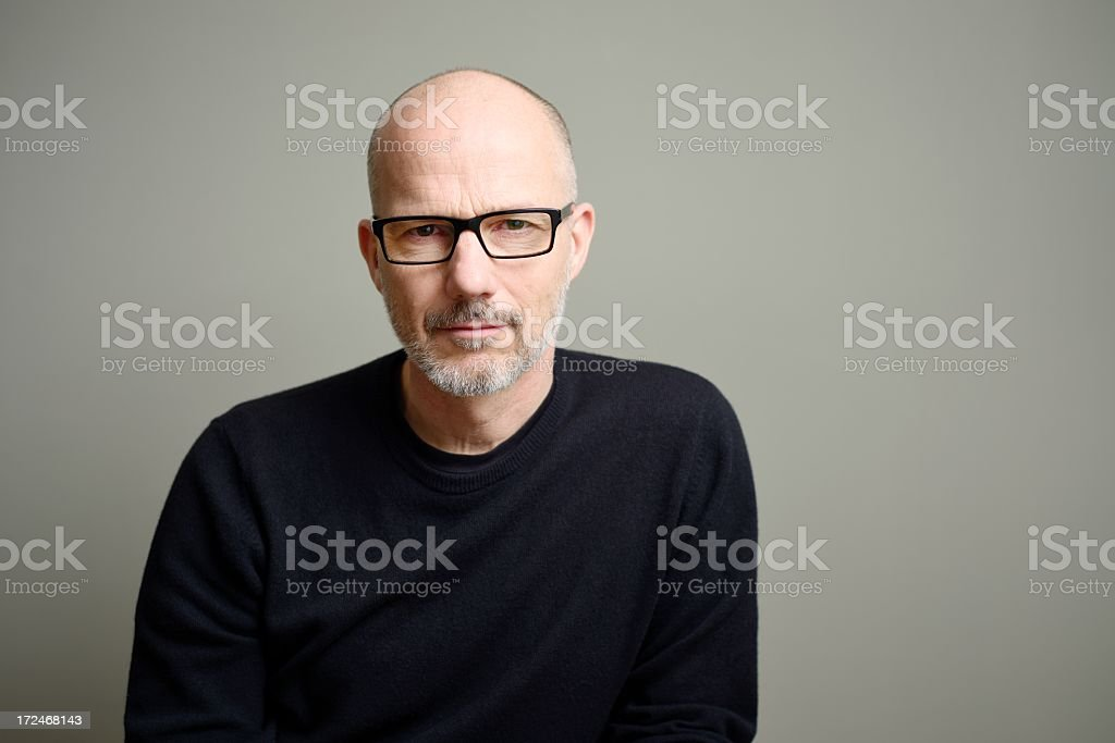 Mature Man Looking at Camera royalty-free stock photo