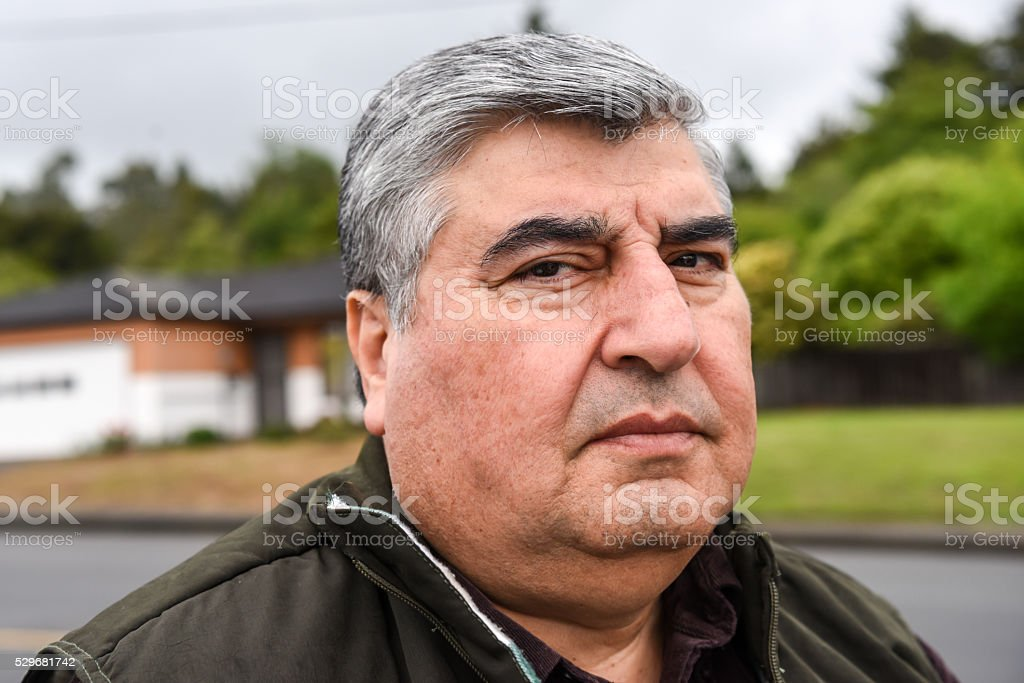 Mature man stock photo